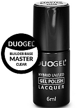 Profumi e cosmetici Base per manicure ibrida - Duogel Builder Base Master Clear