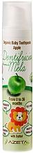 "Profumi e cosmetici Dentifricio per bambini ""Mela"" - Azeta Bio Organic Baby Toothpaste Apple"
