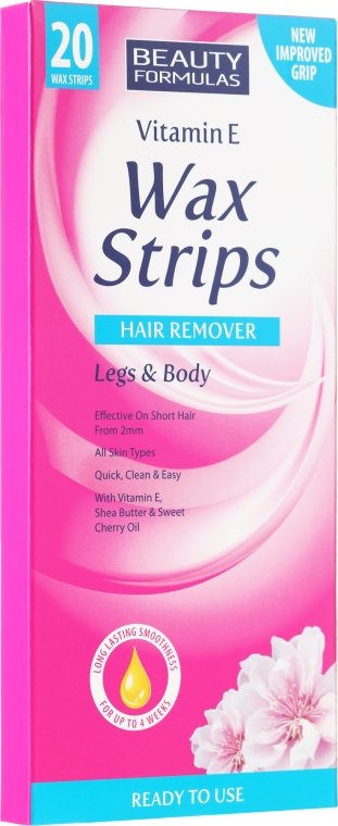 Strisce depilatorie - Beauty Formulas Wax Strips Hair Remover Legs & Body