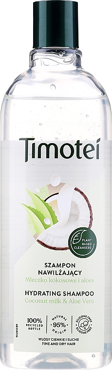 Shampoo capelli nutriente - Timotei Pure Nourished and Light Shampoo With Coconut And Aloe Vera