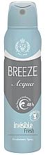 Profumi e cosmetici Deodorante-spray - Breeze Acqua Invisible Fresh Deodorante Spray 48H