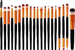 Profumi e cosmetici Set pennelli trucco professionali, 20 pz, oro-nero - Lewer