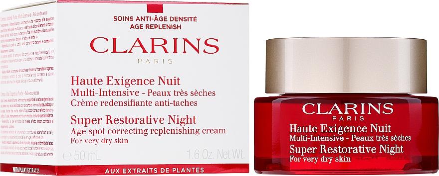 Crema rigenerante da notte per pelli molto secche - Clarins Super Restorative Night For Very Dry Skin — foto N2