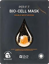 Profumi e cosmetici Maschera in biocellulosa con estratto di propoli - SNP Double Moisturizing Bio-Cell Mask