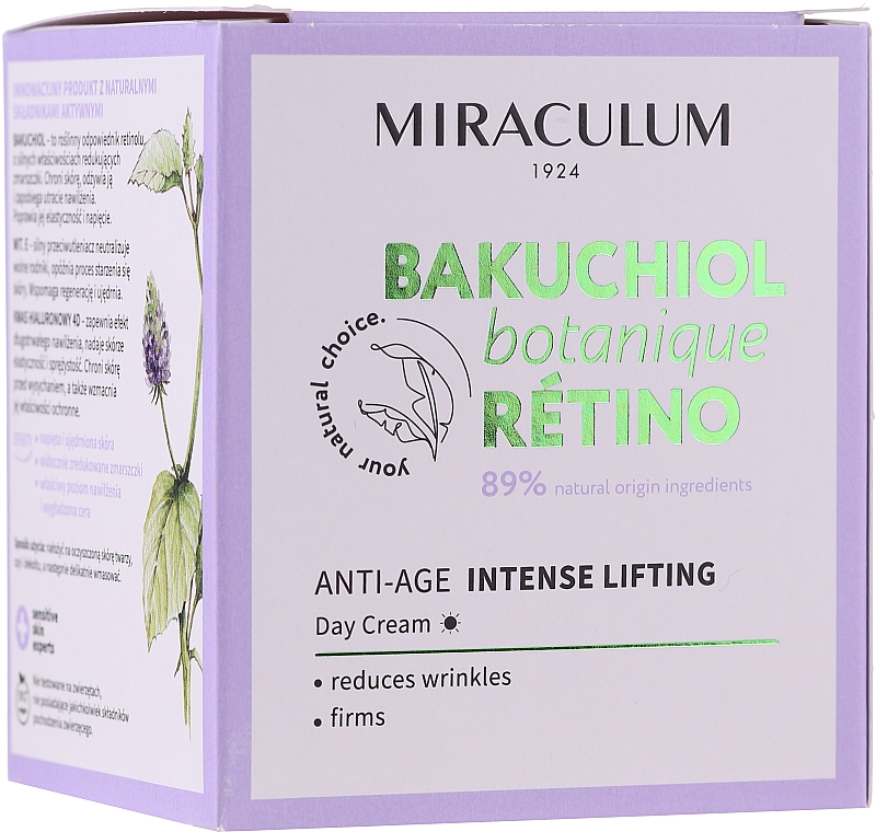 Crema viso da giorno - Miraculum Bakuchiol Botanique Retino Anti-Age Intensive Lifting