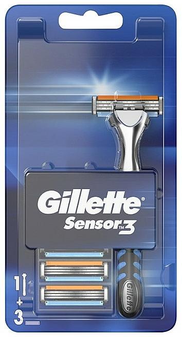 Rasoio con 3 lamette ricambio - Gillette Sensor 3