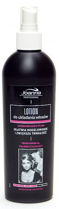 Lozione fissante per capelli - Joanna Professional Lotion for Hair Styling Very Strong — foto N5
