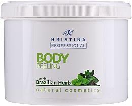 "Profumi e cosmetici Scrub corpo ""Erbe brasiliane"" - Hristina Professional Brazilian Herb Body Peeling"