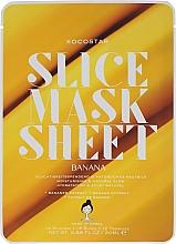 "Profumi e cosmetici Maschera per il viso ""Banana"" - Kocostar Slice Mask Sheet Banana"