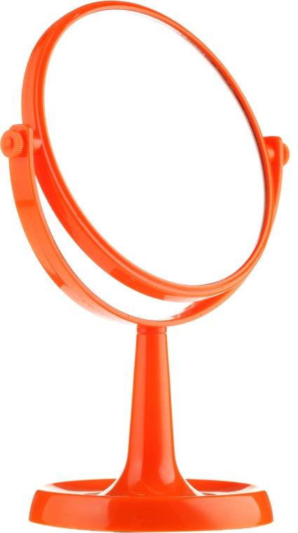 Specchio con supporto 85734, 15,5 cm, arancione - Top Choice Colours Mirror