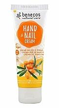 Profumi e cosmetici Crema per mani e unghie all'olivello spinoso e arancia - Benecos Natural Care Sea Buckthorn & Orange Hand And Nail Cream