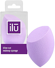 Profumi e cosmetici Spugna trucco con taglio piatto, viola - Ilu Sponge Olive Cut Purple