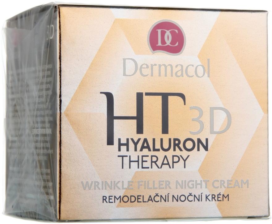 Crema viso da notte all'acido ialuronico puro - Dermacol Hyaluron Therapy 3D Wrinkle Night Filler Cream