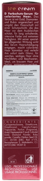 Siero per capelli colorati - Inebrya Pro-Color Color Perfect Serum — foto N3