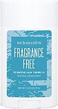 Profumi e cosmetici Deodorante naturale - Schmidt's Deodorant Sensitive Skin Fragrance Free Stick