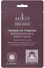 Profumi e cosmetici Maschera in tessuto - Sukin Purely Ageless Intensive Firming Biodegradable Sheet Mask