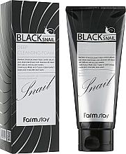 Profumi e cosmetici Schiuma viso con bava di lumaca nera - FarmStay Black Snail Deep Cleansing Foam