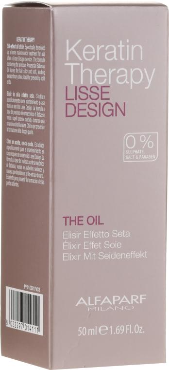 Olio alla cheratina per capelli - Alfaparf Lisse Design Keratin Therapy Oil