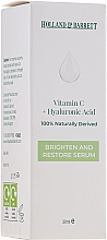 Profumi e cosmetici Siero viso con vitamina C e acido ialuronico - Holland & Barrett Vitamin C + Hyaluronic Acid Serum