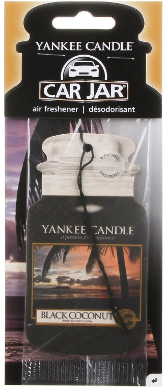 Profumo per auto - Yankee Candle Car Jar Black Coconut Air Freshener
