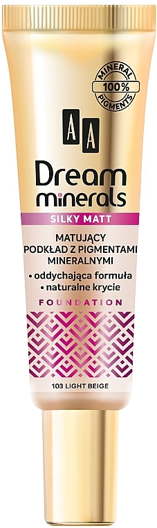 Fondotinta opaco - AA Dream Minerals Silky Matt Foundation