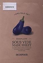 Profumi e cosmetici Maschera in tessuto con estratto di melanzane - Skinfood Eggplant Sous Vide Mask Sheet