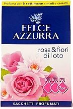 "Profumi e cosmetici Bustina aromatica ""Rosa e fiore di loto"" - Felce Azzurra Sachets Rose and Flowers Of Lotus"