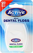 Profumi e cosmetici Filo interdentale - Beauty Formulas Active Oral Care Dental Floss Mint Waxed 100m