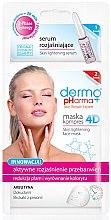 """Profumi e cosmetici Maschera-compress 4D + siero schiarente """"Schiarimento attivo delle decolorazioni"""" - Dermo Pharma Skin Lightening"""