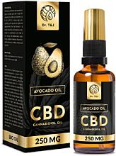 Profumi e cosmetici Olio di avocado naturale Bio CBD 250mg - Dr. T&J Bio Oil