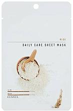 Profumi e cosmetici Maschera viso in tessuto all'estratto di riso - Eunyul Daily Care Mask Sheet Rice