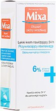 Profumi e cosmetici Crema idratante per la pelle normale e mista - Mixa Sensitive Skin Expert 24 HR Moisturising Cream