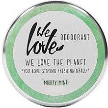 """Profumi e cosmetici Deodorante crema naturale """"Menta"""" - We Love The Planet Mighty Mint Cream Deodorant"""