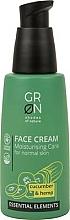 Profumi e cosmetici Crema viso - GRN Essential Elements Cucumber & Hemp Face Cream