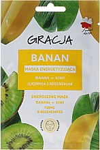 Profumi e cosmetici Maschera energizzante banana + kiwi - Gracja Energizing Mask