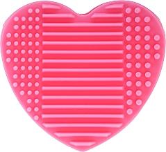 Spazzola in silicone per lavare e asciugare i pennelli da trucco con supporto, rosa - Lash Brow — foto N2