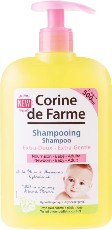 Shampoo delicato con fiori di mandorla per bambini e neonati - Corine de Farme Baby