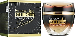 Profumi e cosmetici Crema con oro e bava di lumaca - FarmStay Gold Snail Premium Cream