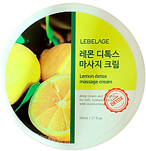 Profumi e cosmetici Crema da massaggio per il corpo - Lebelage Lemon Detox Massage Cream