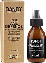 Profumi e cosmetici Siero dopobarba - Niamh Hairconcept Dandy 2 in 1 Age Defence Aftershave Serum