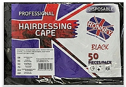 Profumi e cosmetici Mantelle monouso per parrucchiere in lamina nera - Ronney Professional Hairdressing Cape