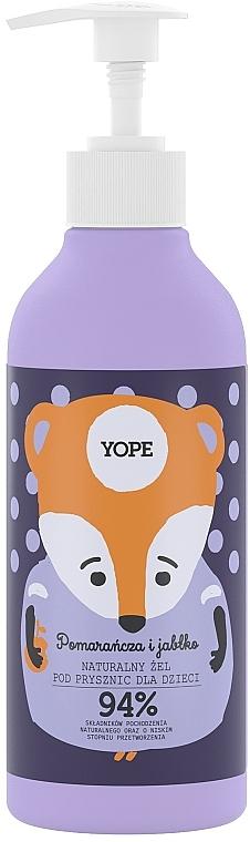 "Gel doccia naturale per bambini ""Orange and Apple"" - Yope"