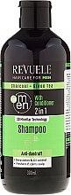 Profumi e cosmetici Shampoo-condizionante 2in1, uomo - Revuele Men Charcoal + Green Tea 2in1 Shampoo