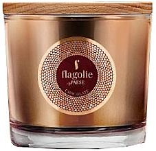"Profumi e cosmetici Candela profumata in bicchiere ""Cioccolato"" - Flagolie Fragranced Candle Chocolate"