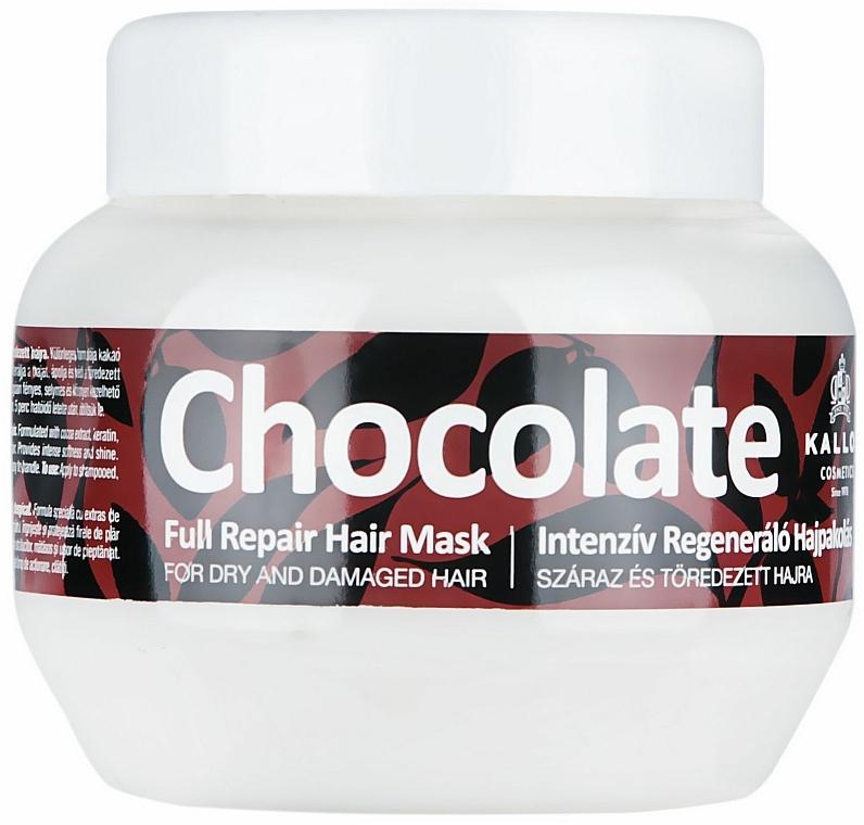 Maschera per capelli secchi e danneggiati - Kallos Cosmetics Chocolate Mask