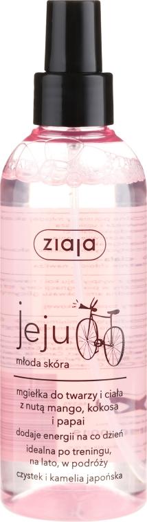 Lozione spray viso e corpo con mango, cocco e papaia - Ziaja Jeju