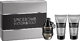 Profumi e cosmetici Viktor & Rolf Spicebomb - Set (edt/50ml + ash/balm/50ml + sh/cr/50ml)