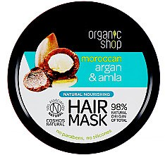 Profumi e cosmetici Maschera capelli nutriente - Organic Shop Argan And Amla Hair Mask