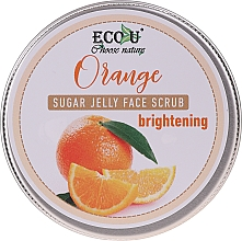 Profumi e cosmetici Scrub viso illuminante con gelatina di zucchero e arancia - Eco U Orange Brightening Sugar Jelly Face Scrub