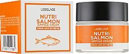 Profumi e cosmetici Crema nutriente all'olio di salmone - Lebelage Ampule Cream Nutri Salmon